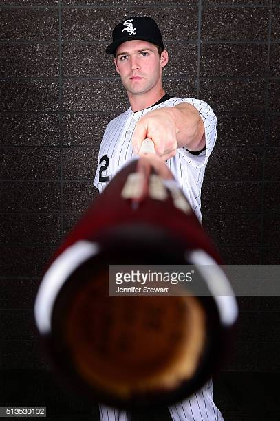 Infielder Matt Davidson of the Chicago White Sox poses for a portrait during spring training photo day at Camelback Ranch on February 27 2016 in...