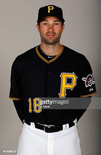 Infielder Neil Walker of the Pittsburgh Pirates poses for a photo during photo day at Pirate City on February 17 2013 in Bradenton Florida