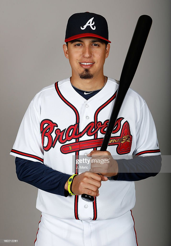 Infielder Ramiro Pena #14 of the Atlanta Braves poses for a photo during photo day at Champion Stadium at the ESPN Wide World of Sports Complex at Walt Disney World on February 20, 2013 in Lake Buena Vista, Florida.