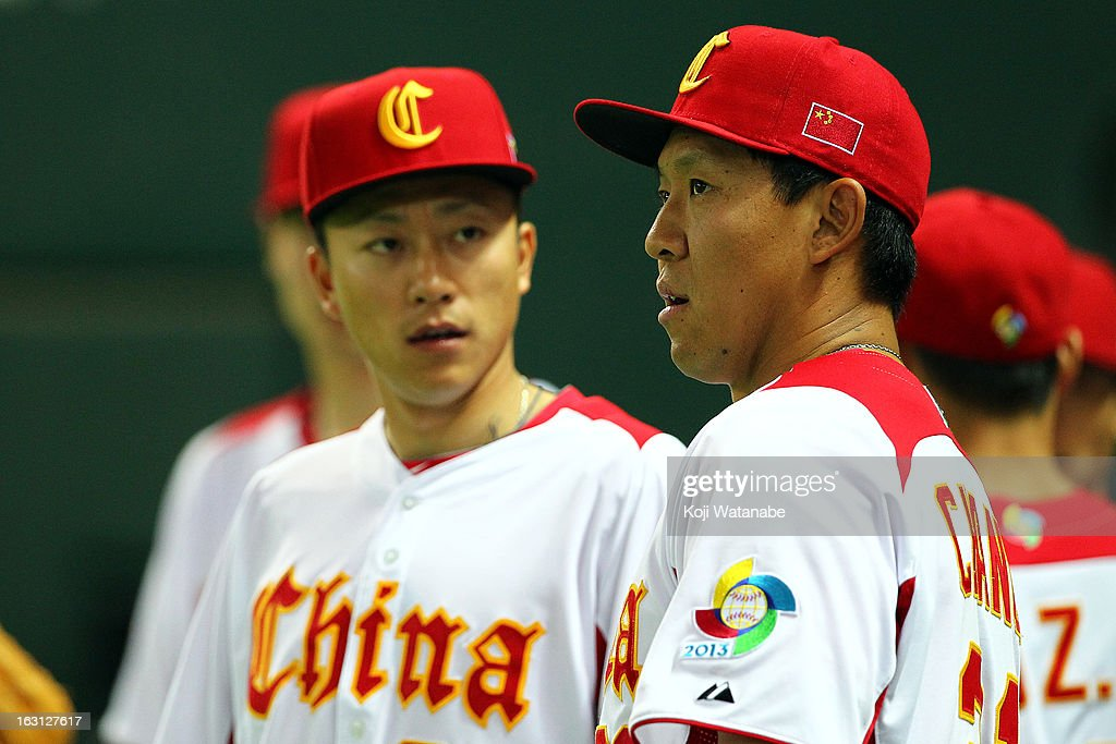 Infielder Ray Chang #21 of China during the World Baseball Classic First Round Group A game between China and Brazil at Fukuoka Yahoo! Japan Dome on March 5, 2013 in Fukuoka, Japan.
