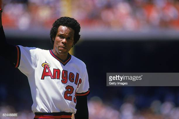 Infielder Rod Carew of the California Angels waves to the home crowd after making his 3000th hit by singling against his former club the Minnesota...