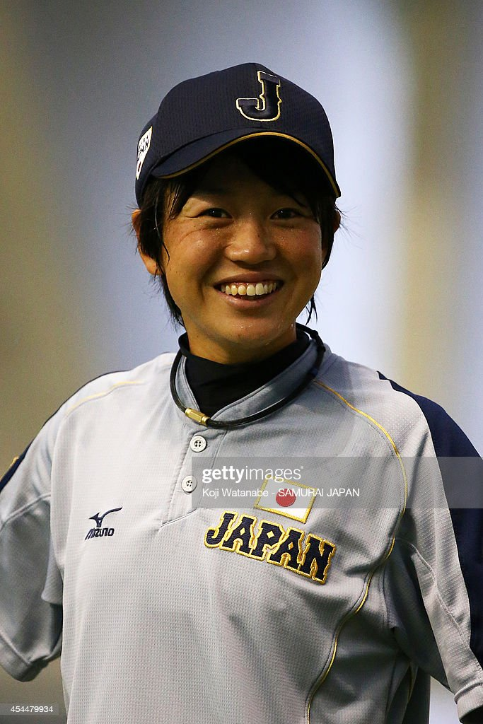 Infielder <a gi-track='captionPersonalityLinkClicked' href=/galleries/search?phrase=Yuki+Kawabata&family=editorial&specificpeople=6915237 ng-click='$event.stopPropagation()'>Yuki Kawabata</a> #23 of Japan looks on the IBAF Women's Baseball World Cup Group A game between Japan and Australia at Sun Marine Stadium on September 1, 2014 in Miyazaki, Japan.
