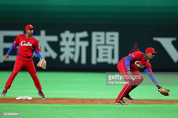 Infielder Yulieski Gourriel of Cuba in action during the World Baseball Classic First Round Group A game between Brazil and Cuba at Fukuoka Yahoo...