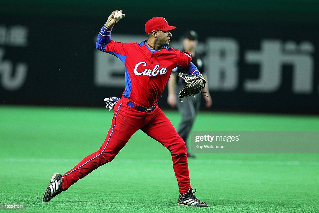 Infielder Yulieski Gourriel #10 of Cuba in action during the World Baseball Classic First Round Group A game between Brazil and Cuba at Fukuoka Yahoo! Japan Dome on March 3, 2013 in Fukuoka, Japan.