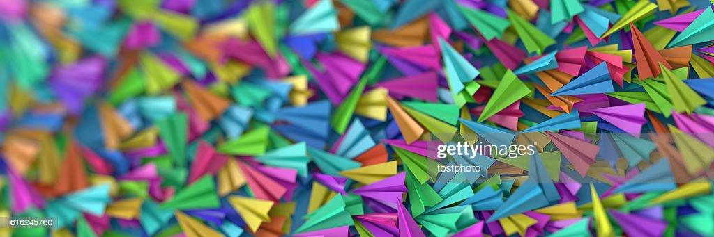 Infinite paper planes : Stock Photo