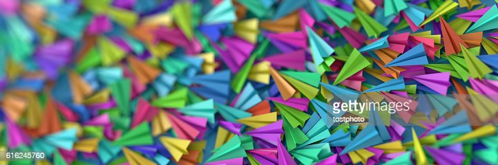 Infinite paper planes : Foto de stock