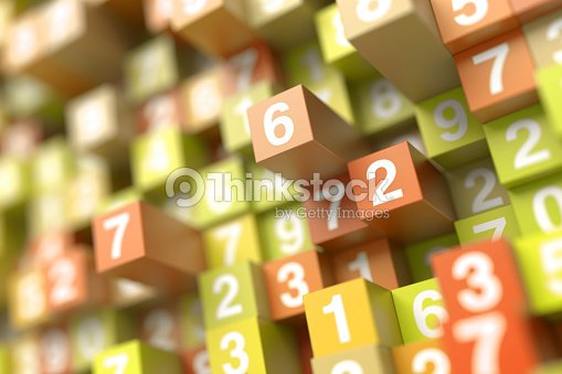 Infinite random numbers background : Stock Photo