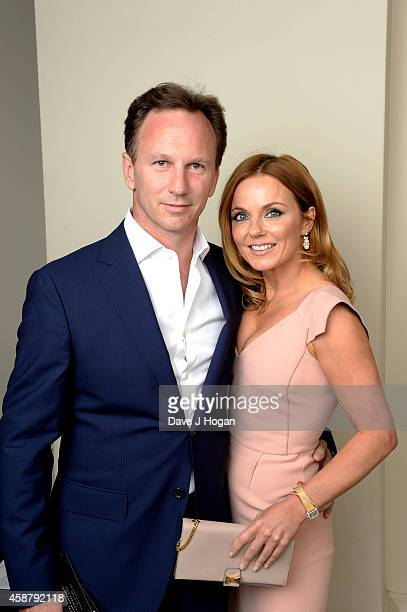 Infiniti Red Bull Racing Team Principal Christian Horner and Geri Halliwell pose on September 3 2014 in London England