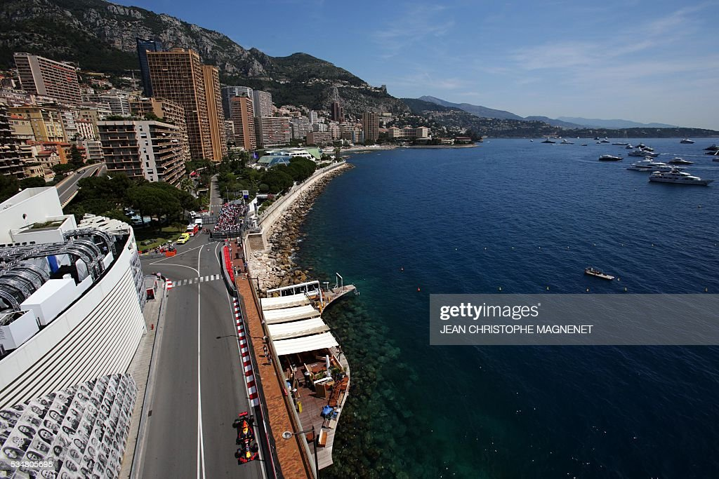 Infiniti Red Bull racing's Belgian-Dutch driver Max Verstappen drives during the third practice session at the Monaco street circuit, on May 28, 2016 in Monaco, one day ahead of the Monaco Formula 1 Grand Prix. / AFP / JEAN
