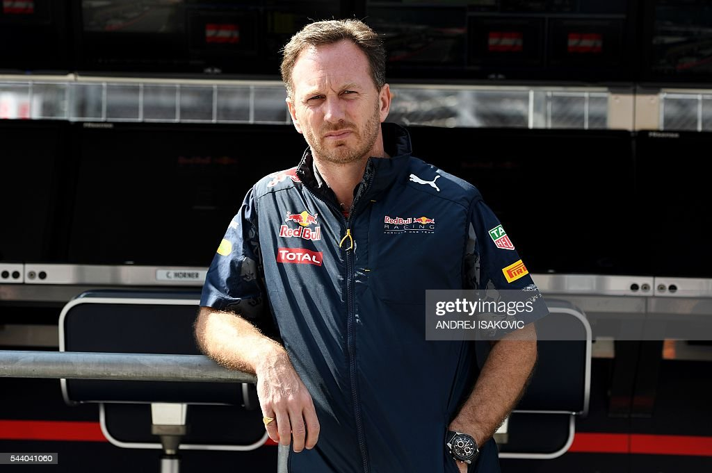 Infiniti Red Bull Racing's Team Chief Christian Horner stands in the pit lane before the first practice session of the Formula One Grand Prix of Austria at the Red Bull Ring in Spielberg on July 1, 2016. / AFP / ANDREJ