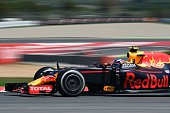 Infiniti Red Bull's BelgianDutch driver Max Verstappen competes at the Circuit de Catalunya on May 15 2016 in Montmelo on the outskirts of Barcelona...
