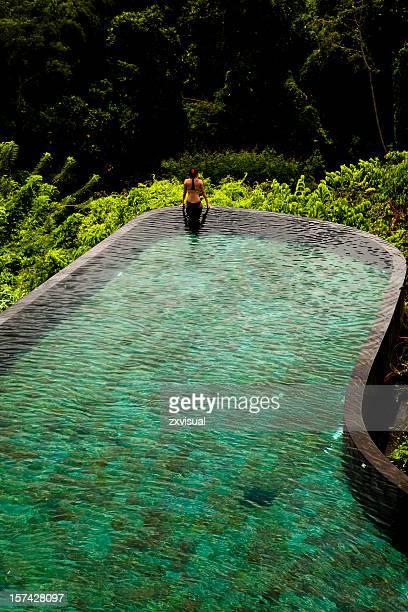Infinity Pool Edge in Ubud Bali