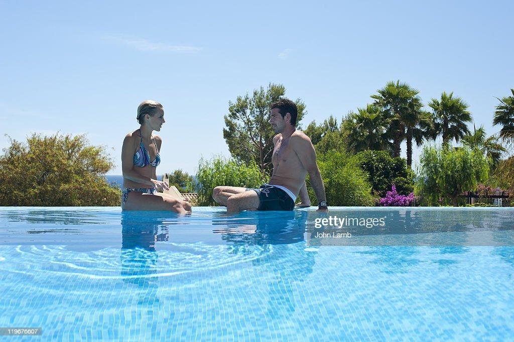 Infinity pool : Stock Photo