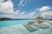 swimming pool with a view on Phuket Sea