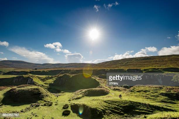 Infinity view of Fairy Glen Natural Landscape, Isle of Skye, Scotland