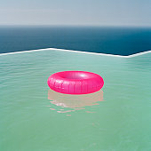 Inflatable Ring in Pool