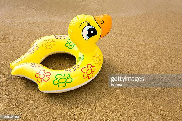 Canard en caoutchouc gonflable