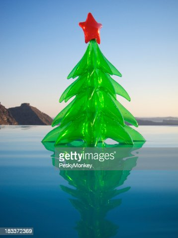 Inflatable Toy Christmas Tree Floating Resort Swimming