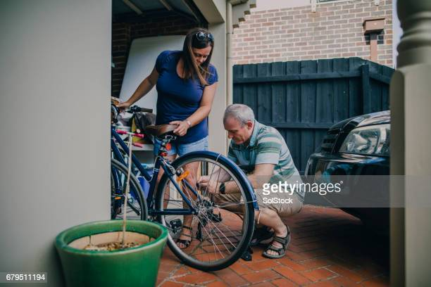 Inflating the Tire on a Bicycle