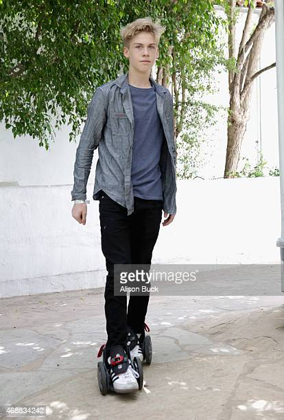 Influencer Aidan Alexander attends Kari Feinstein's Music Festival Style Lounge at Sunset Marquis Hotel Villas on April 7 2015 in West Hollywood...