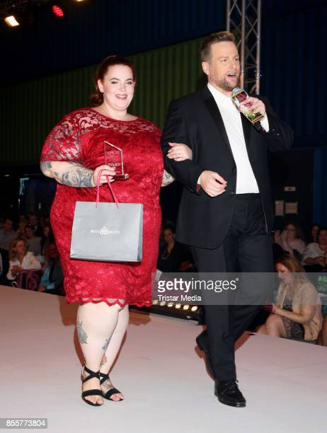 Influencer and plus size model Tess Holliday during the Plus Size Fashion Show at Cruise Center Hafencity on September 29 2017 in Hamburg Germany