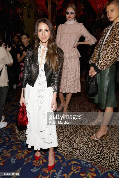 Influencer Arielle Noa Charnas poses at kate spade new york Spring 2017 Fashion Presentation at Russian Tea Room on February 10 2017 in New York City
