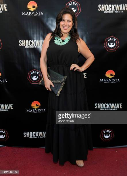 Influencer Dawn McCoy attends the premiere of MarVista Entertainment's 'Shockwave' at Laemmle's Music Hall 3 on May 11 2017 in Beverly Hills...