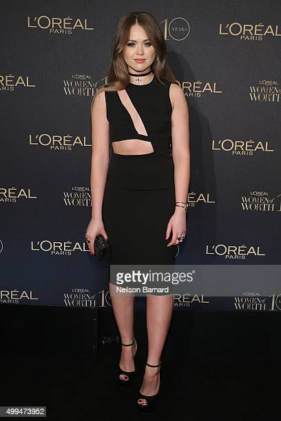 Influencer Kristina Bazan attends the L'Oreal Paris Women of Worth 2015 Celebration Arrivals at The Pierre Hotel on December 1 2015 in New York City
