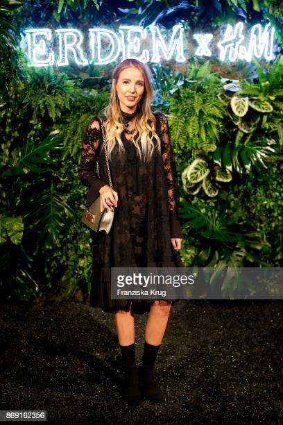 Influencer Leonie Hanne wearing ERDEM X HM attends the ERDEM x HM PreShopping Event on November 1 2017 in Berlin Germany