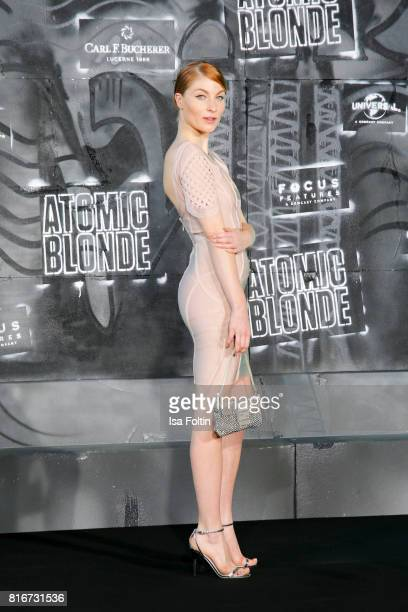 Influencer Lisa Banholzer attends the 'Atomic Blonde' World Premiere at Stage Theater on July 17 2017 in Berlin Germany