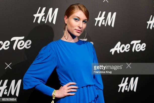 Influencer Lisa Banholzer attends the HM Ace Tee showcase on August 16 2017 in Berlin Germany