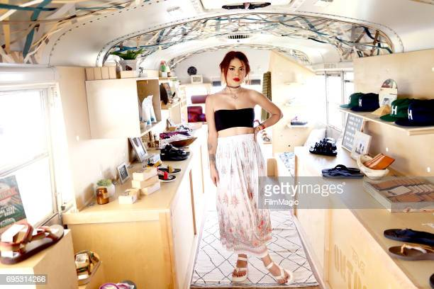 Influencer Luanna PerezGarreaud stops by Teva Outpost Bus at Bonnaroo Music and Arts Festival on Sunday June 11 on June 11 2017 in Manchester...