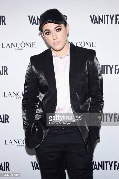 Influencer Manny Gutierrez attends Vanity Fair and Lancome Toast to The Hollywood Issue at Chateau Marmont on February 23 2017 in Los Angeles...