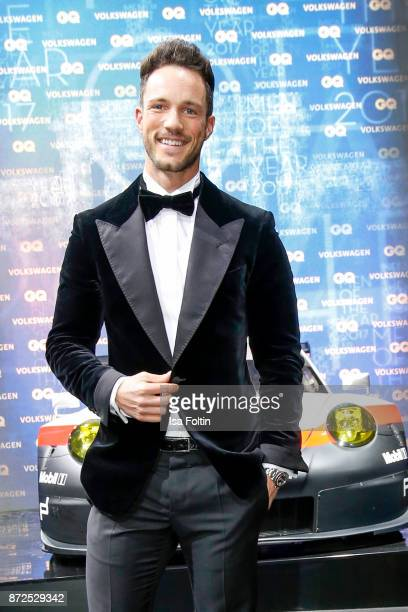 Influencer Marcel Floruss arrives for the GQ Men of the year Award 2017 at Komische Oper on November 9 2017 in Berlin Germany