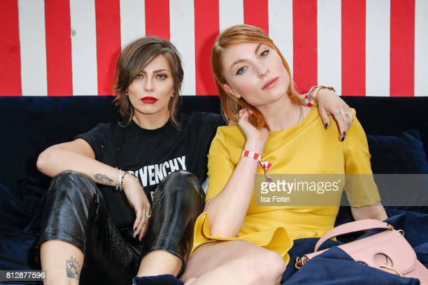 Influencer Masha Sedgwick and influencer and Blogger Lisa Banholzer during the 'True Berlin' Hosted By Shan Rahimkhan on July 11 2017 in Berlin...