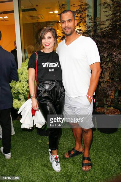 Influencer Masha Sedgwick and presenter Patrice Bouedibela during the 'True Berlin' Hosted By Shan Rahimkhan on July 11 2017 in Berlin Germany