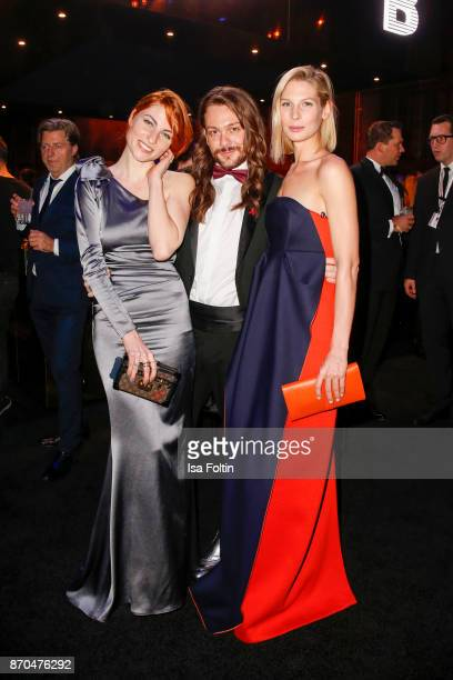Influencer Masha Sedgwick influencer Riccardo Simonetti and model Sarah Brandner attend the aftershow party during during the 24th Opera Gala at...