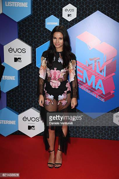 Influencer Monica Geuze attends the MTV Europe Music Awards 2016 on November 6 2016 in Rotterdam Netherlands
