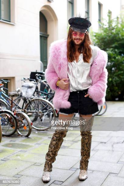 Influencer Riccardo Simonetti attends the HM Ace Tee showcase on August 16 2017 in Berlin Germany