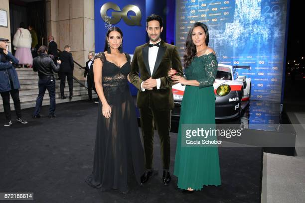 Influencer Sami Slimani and his sisters Lamiya Slimani and Dounia Slimani arrive for the GQ Men of the year Award 2017 at Komische Oper on November 9...