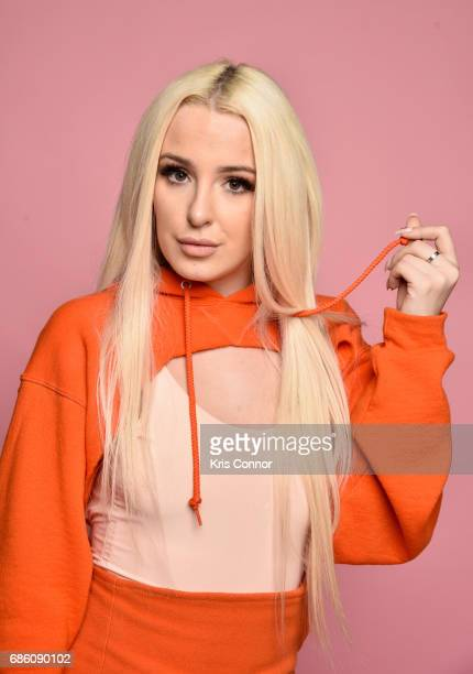 Influencer Tana Mongeau attends Beautycon Festival NYC 2017 Portraits at Brooklyn Cruise Terminal on May 20 2017 in New York City