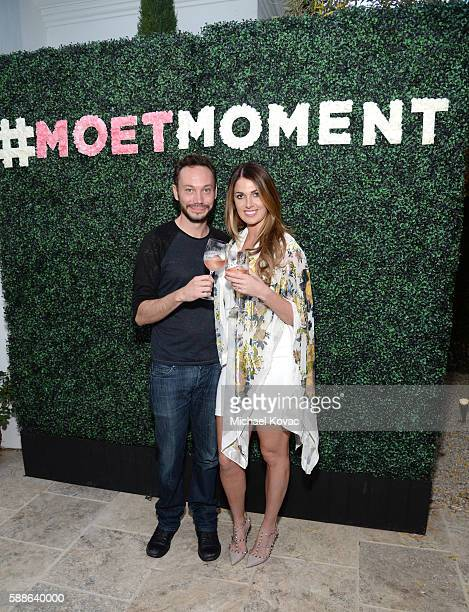 Influencers Eric Boulanger and Emily Flesch celebrate the Los Angeles launch of Moet Ice Imperial Rose at the Riviera White House on August 11 2016...