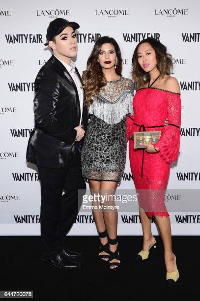 Influencers Manny Gutierrez Laura Lee and Aimee Song attend Vanity Fair and Lancome Toast to The Hollywood Issue at Chateau Marmont on February 23...