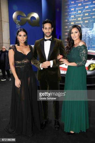 Influener Sami Slimani and his sisters Lamiya and Dounia Slimani arrives for the GQ Men of the year Award 2017 at Komische Oper on November 9 2017 in...