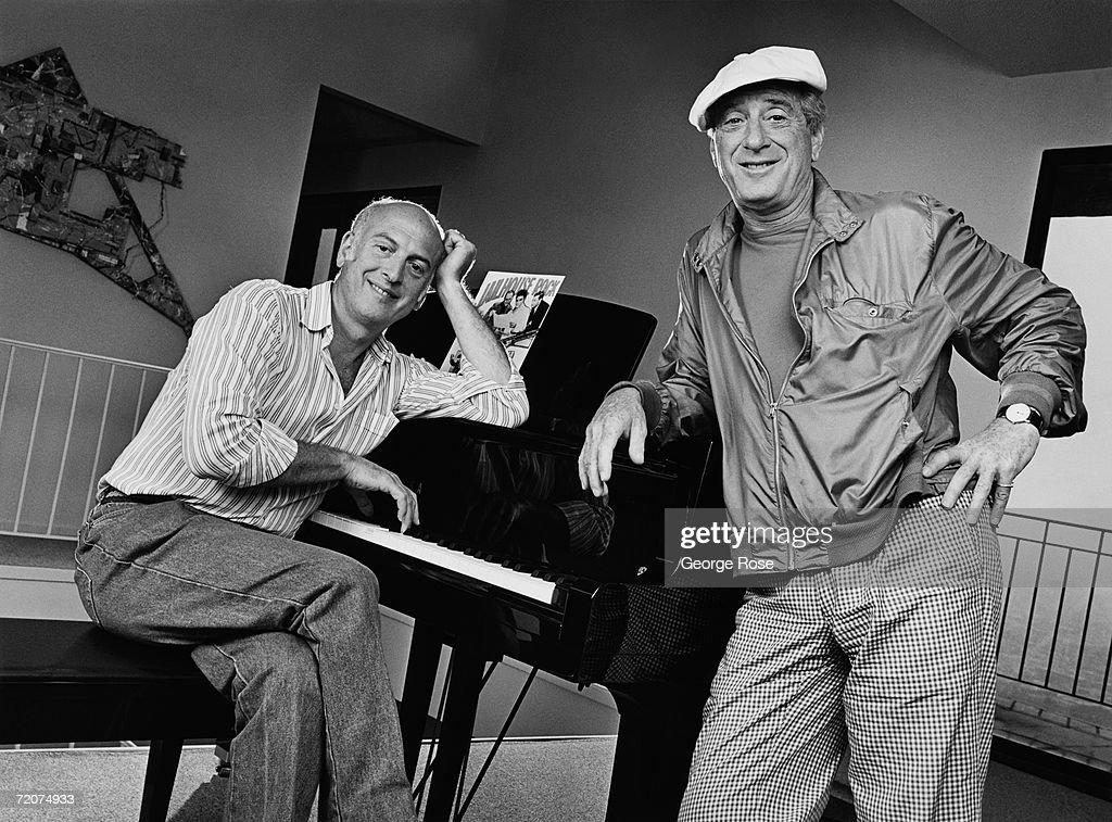 Influential songwriters and music producers, Jerry Leiber (right) and Mike Stoller, pose during a 1980 Beverly Hills, California, photo portrait session. Leiber and Stoller wrote some of pop's most enduring songs including, 'Stand By Me,' 'Kansas City,' and 'On Broadway.'