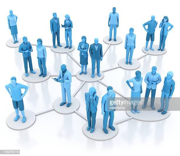 Informal business network - blue