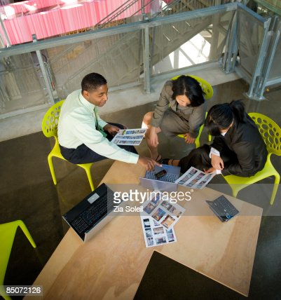 informal conference in common space : Stock Photo