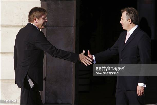 Informal Meeting Of European Union Heads Of State/Government On October 27Th 2005 In Hampton Court United Kingdom Here Guy Verhofstadt Prime Minister...