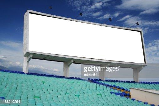 Information board on the stadium