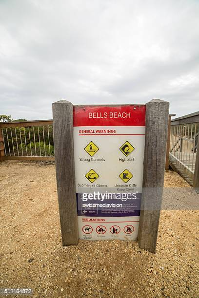 Bells beach, Australia - January 28, 2016: Information board